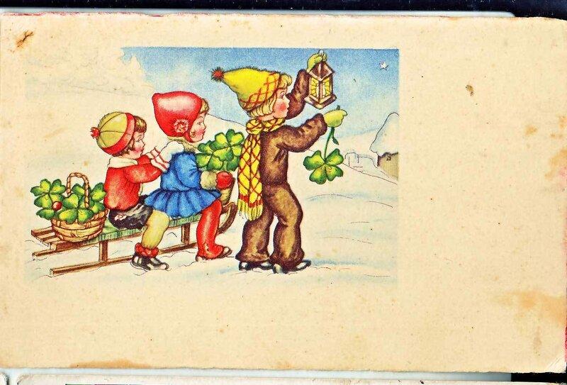 Старые открытки 1950-1970, приятного вечера картинки