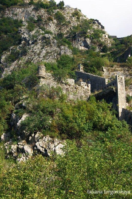 Фрагмент которских стен