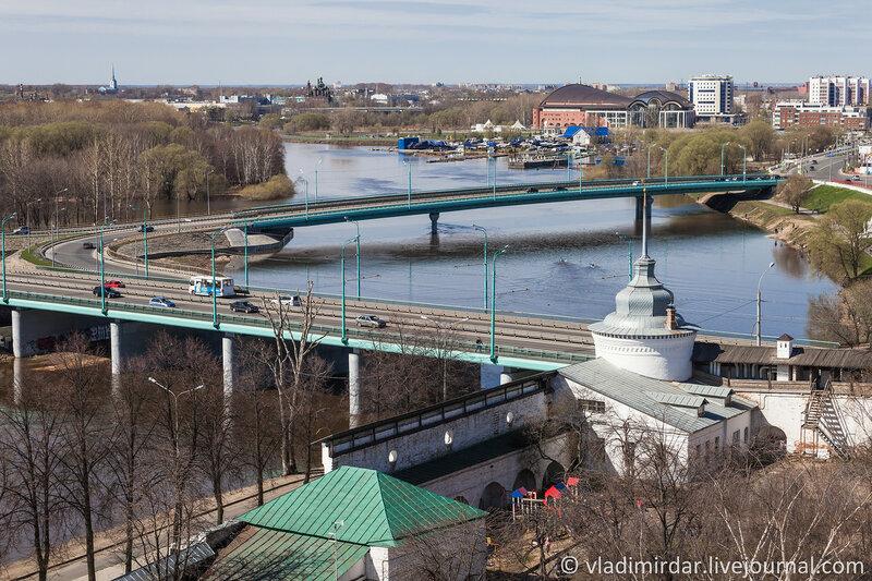 Ярославль. Московский мост. Река Которосль.
