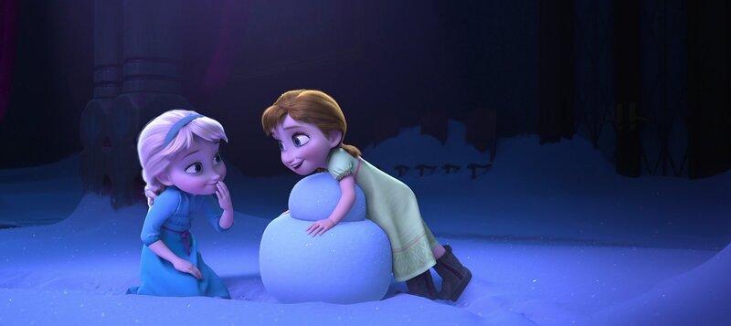 картинки холодное сердце анна и эльза в детстве