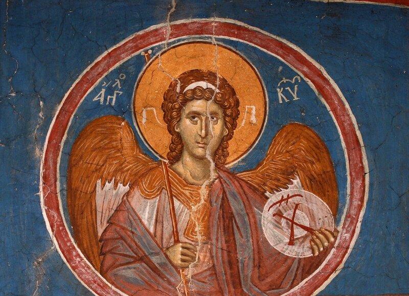 Ангел Господень. Фреска монастыря Высокие Дечаны, Косово, Сербия. Около 1350 года.