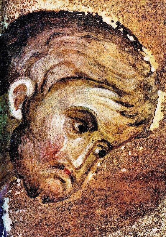 Святой Апостол и Евангелист Лука. Фрагмент книжной миниатюры начала XV века. Иконописец Преподобный Андрей Рублёв.