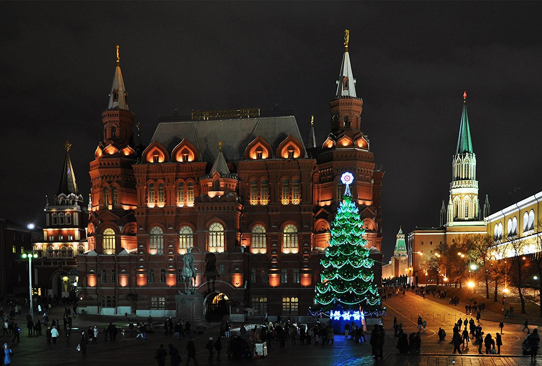 Новогодний Кремль.