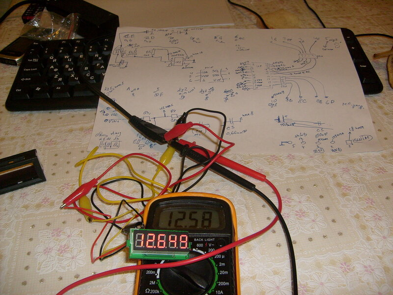 Реверсинг 5-значного вольтметра; тест на 12В