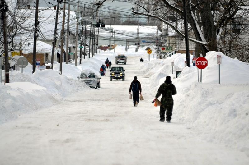 Небывалые снегопады в штате Нью Йорк в ноябре 2014 года