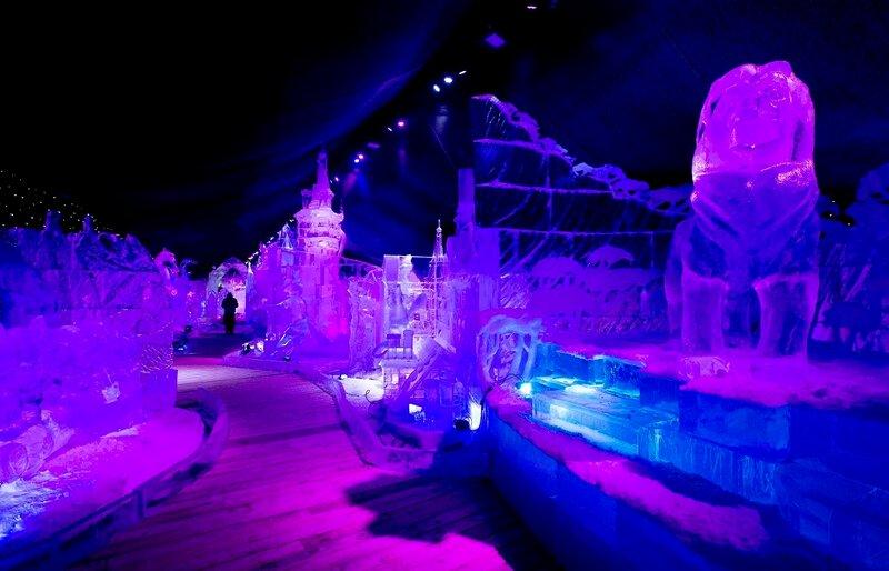 Фестиваль ледяных скульптур в Антверпене, Бельгия