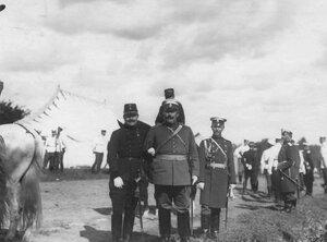 Группа генералов на параде в честь приезда итальянского короля Виктора Эмммануила III.