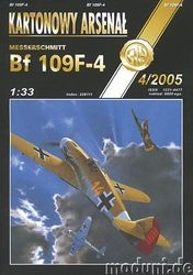 Журнал Журнал BF 109F-4 Tomcat-Halinski Kartonowy Arsenal (4`2005)