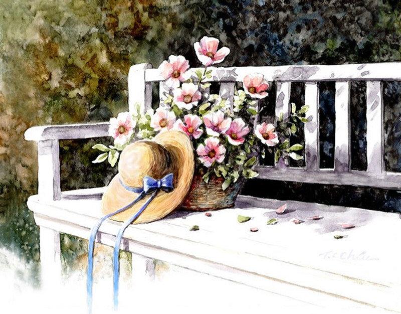 Плывет и манит аромат цветов, Весна рисует им свои узоры. Художник Tan Chun Chiu