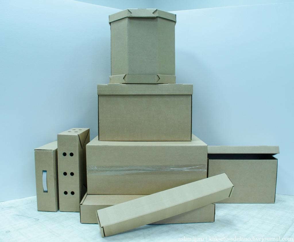 Как делают картонные коробки (видео)
