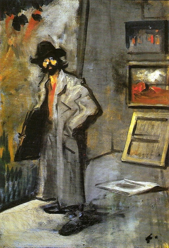 Painter with a folder Jean-Louis Forain (1852–1931);