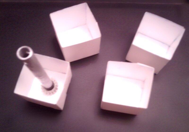 Картонные формы для малой шестерни