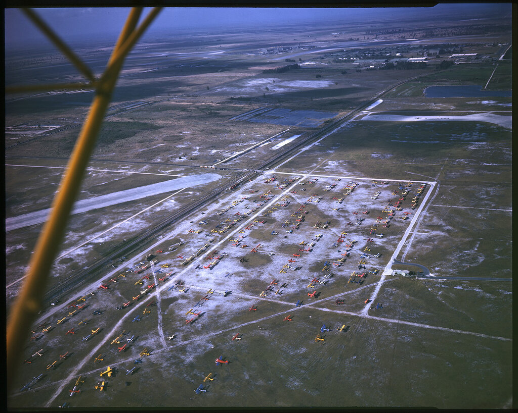 Aerial view of unidentified airport