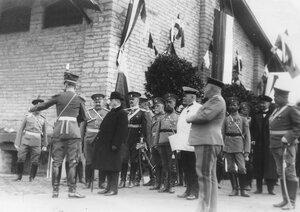 Группа участников встречи германского императора Вильгельма II.