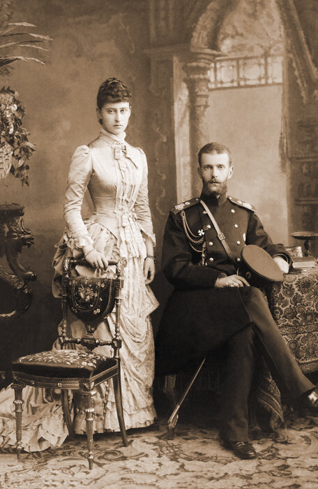 Супруги великий князь Сергей Александрович и великая княгиня Елизавета Федоровна. 1884