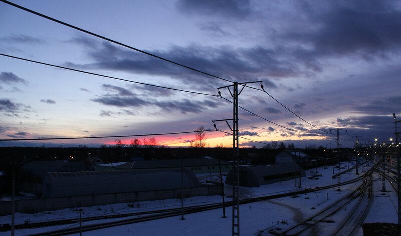 Закат над станцией Мга