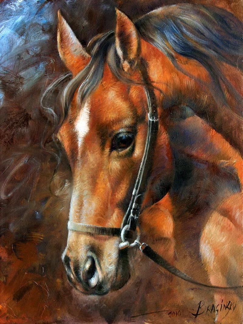 Horse head paintings
