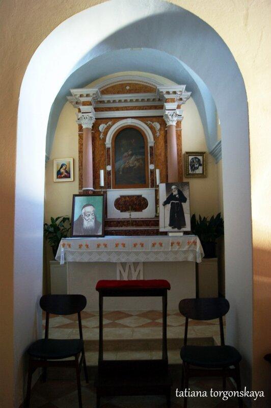 В церкви Св.Леопольда Мандича
