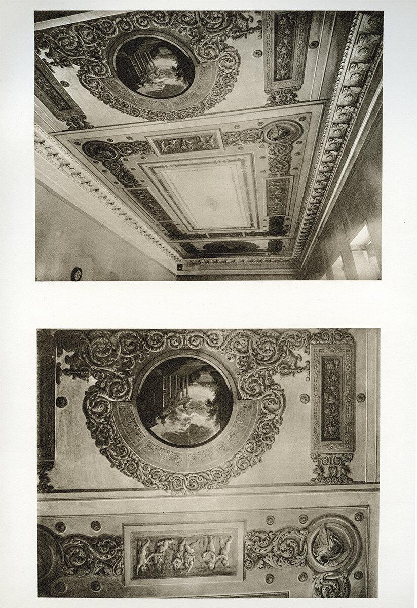 586. Строгановская дача. Плафоны. 1915