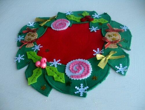 Як зробити симпатичну новорічну серветку із залишків матеріалів