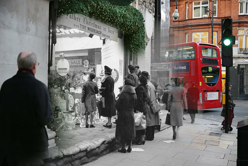 Фотограф Питер Макдермид: Рождество через призму времени фотографы фотографии Рождество праздники Лондон история винтаж Великобритания