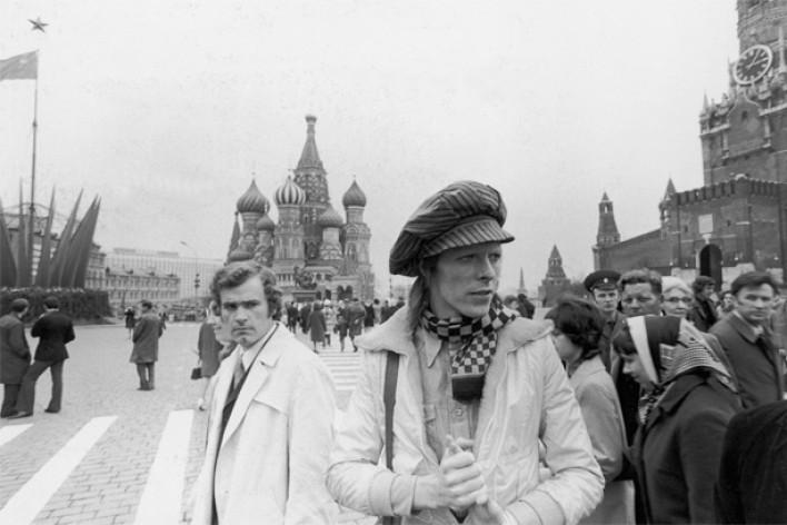 Д. Боуи на Красной площади в Москве. 1970-е