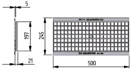 Водоприемная чугунная ячеистая решётка DN200 - Схема