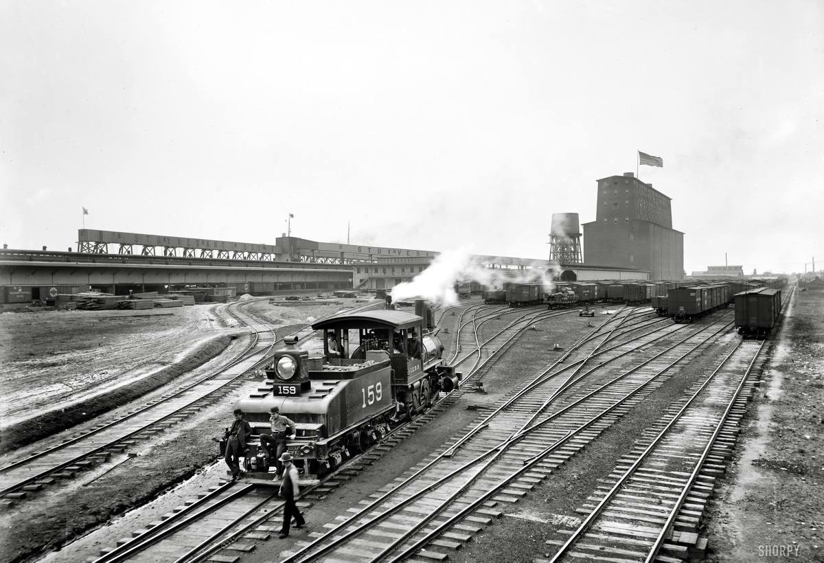Железные дороги конца 19-го - начала 20-го века на снимках американских фотографов (22)