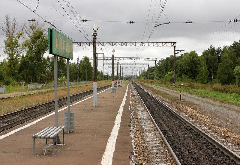 Платформа Лопатино, вид на Воскресенск