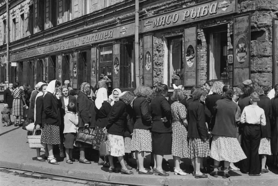 1954. Ленинград. Жизнь в очередях