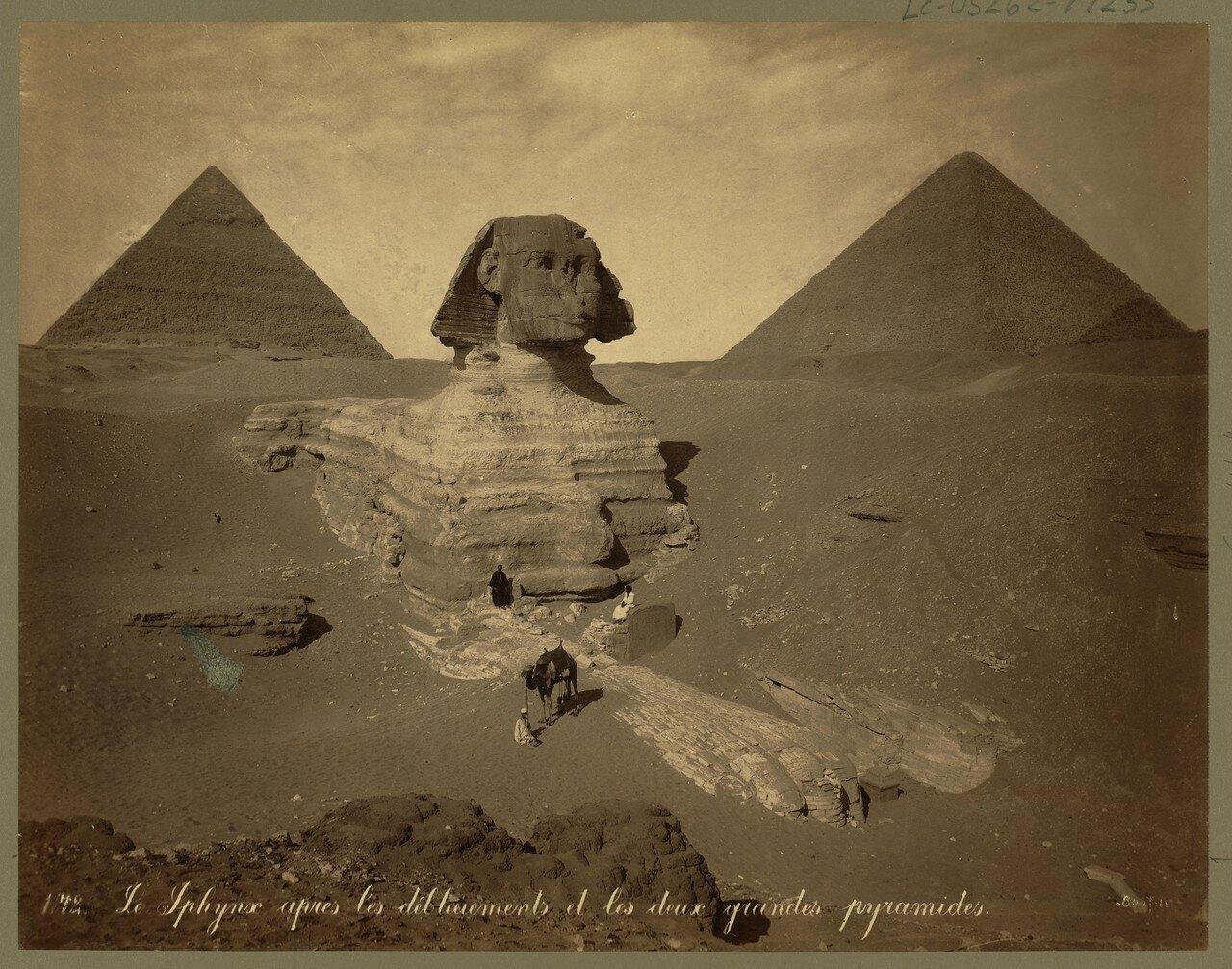Гиза. Сфинкс и Пирамиды. 1860
