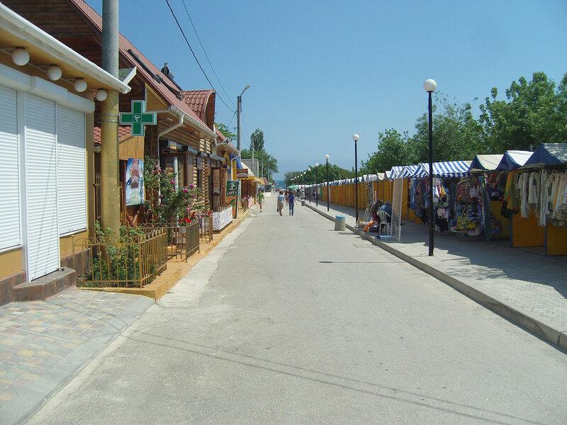 торговые ряды в поселке Коктебель