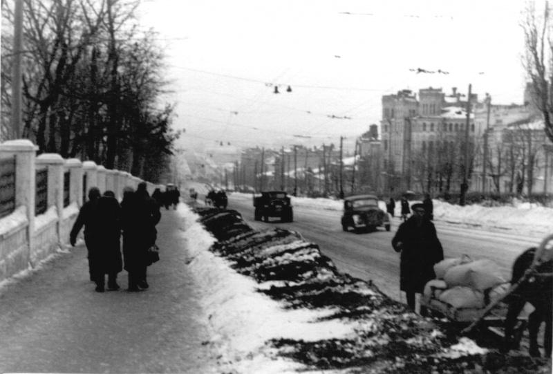 Бульвар Тараса Шевченко в оккупированном Киеве