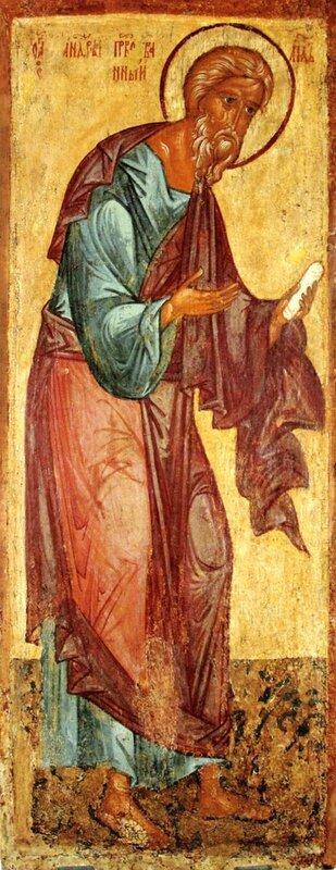 Святой Апостол Андрей Первозванный. Икона. Ростов Великий, XV век.