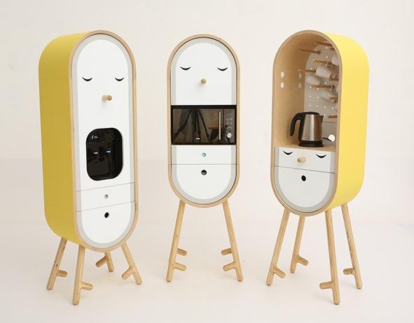 Мини кухня для офиса веселого дизайна