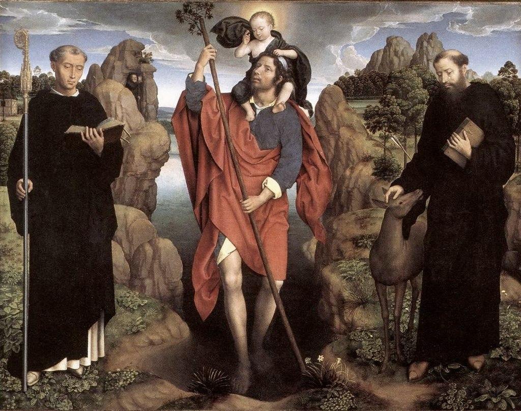 "Ханс Мемлинг. ""Триптих Вильяма Мореля"" 1484 центральная панель"