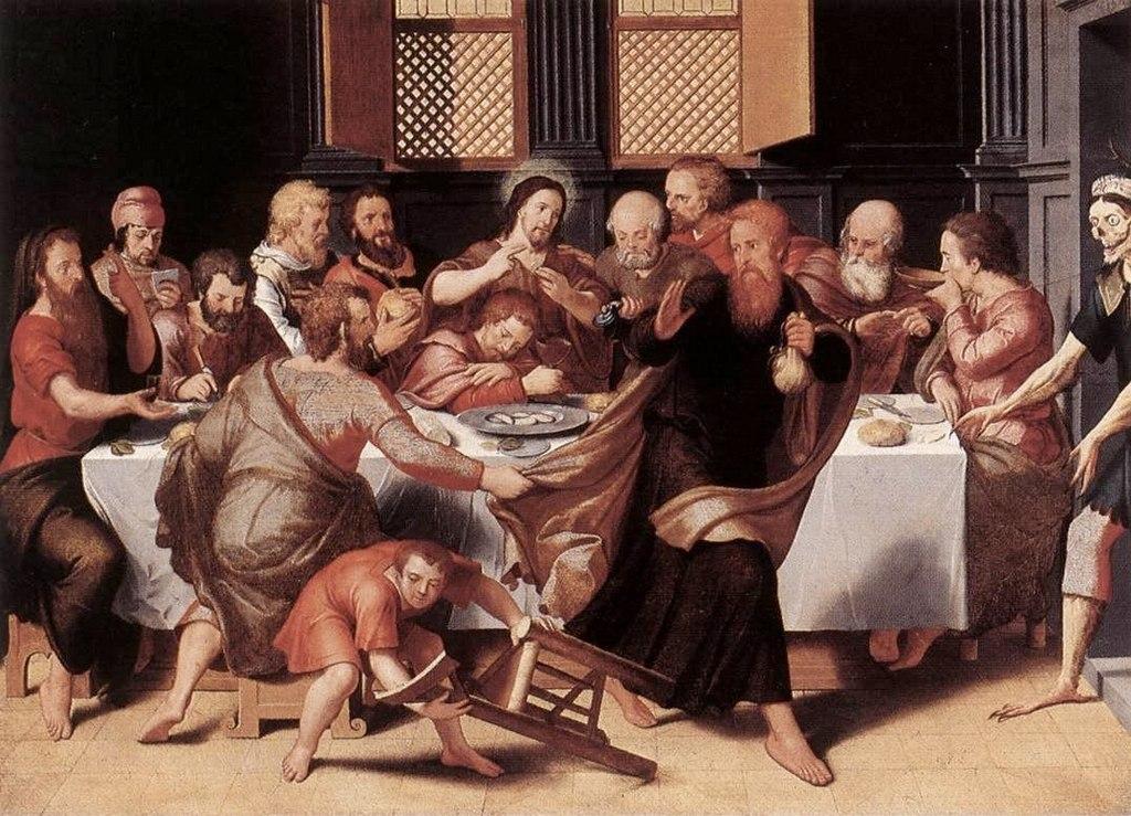 """Питер Порбус. """"Тайная вечеря"""" 1548"""