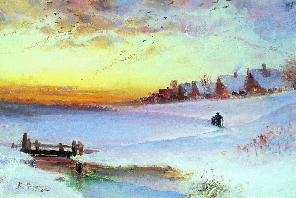 Зимний пейзаж холст масло 36 х 54 см Ивановский областной художественный музей.jpg