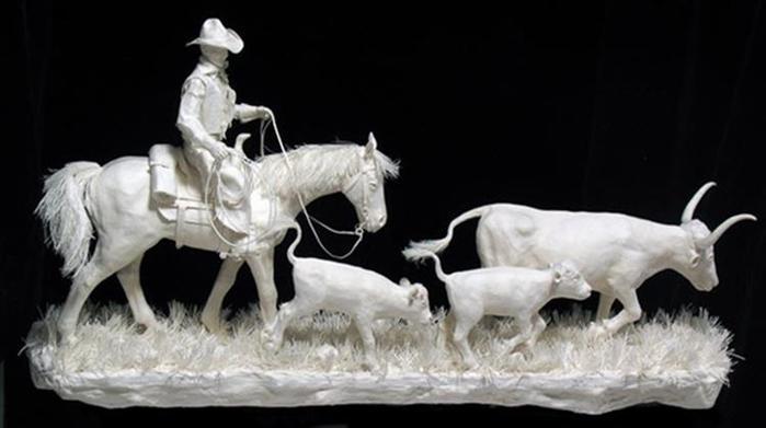 Удивительные скульптуры из бумажной массы 0 115b77 309d1c5a orig