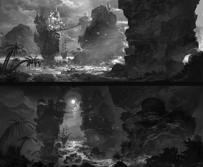 Конb50цепт-дизайнер Feng Zhu.  Великолепный Digital Art. 55 работ