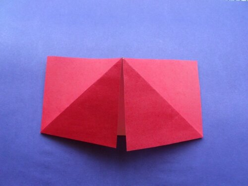 Сапожок для подарков в технике оригами