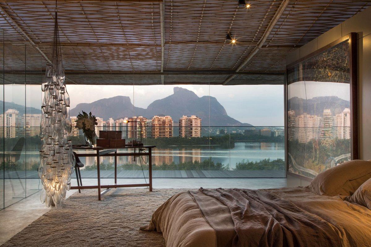 Tropical Loft, Gisele Taranto Arquitetura, Casa Cor 2014, частный дом с видом на залив, особняки Рио, элитная недвижимость в Бразилии