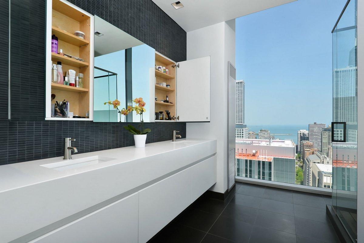 Gaggenau, пентхаус в Чикаго, самые крутые пентхаусы мира, Chicago Penthouse, Dresner Design, пентхаус с видом на озеро, пентхаус с видом на город