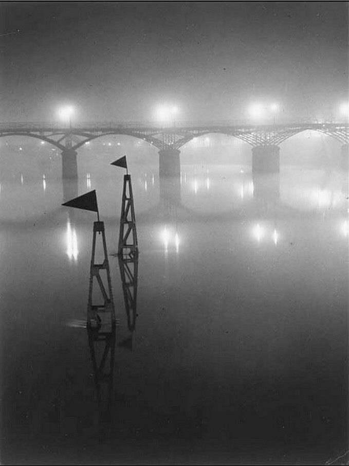 1932. Мост Искусств в тумане