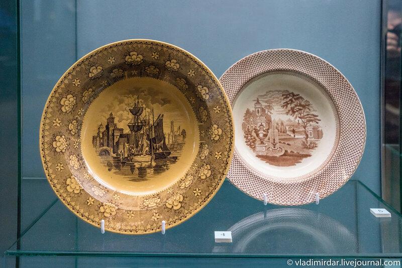 Тарелки с видом итальянского города Феррары и с парковым видом
