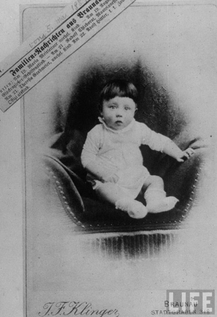Свидетельство о рождении Гитлера. 1889 г. Braunau, Австрия.