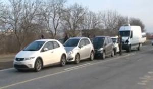 Цепное ДТП из 5 автомашин произошло в Кишиневе