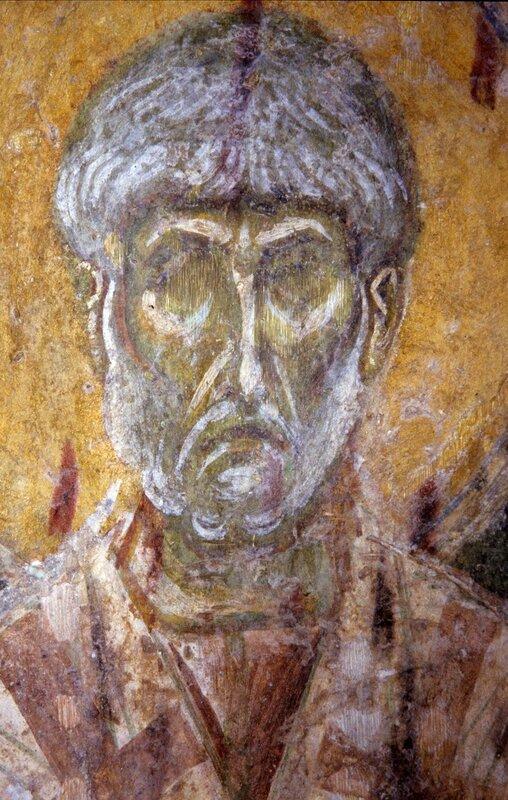 Священномученик Пётр, Архиепископ Александрийский. Фреска монастыря Бачково, Болгария. Конец XI века.