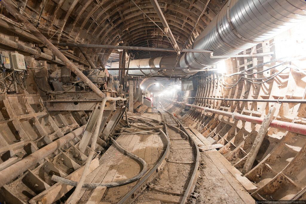 Правый перегонный тоннель, вид в сторону станции Петровско-Разумовская