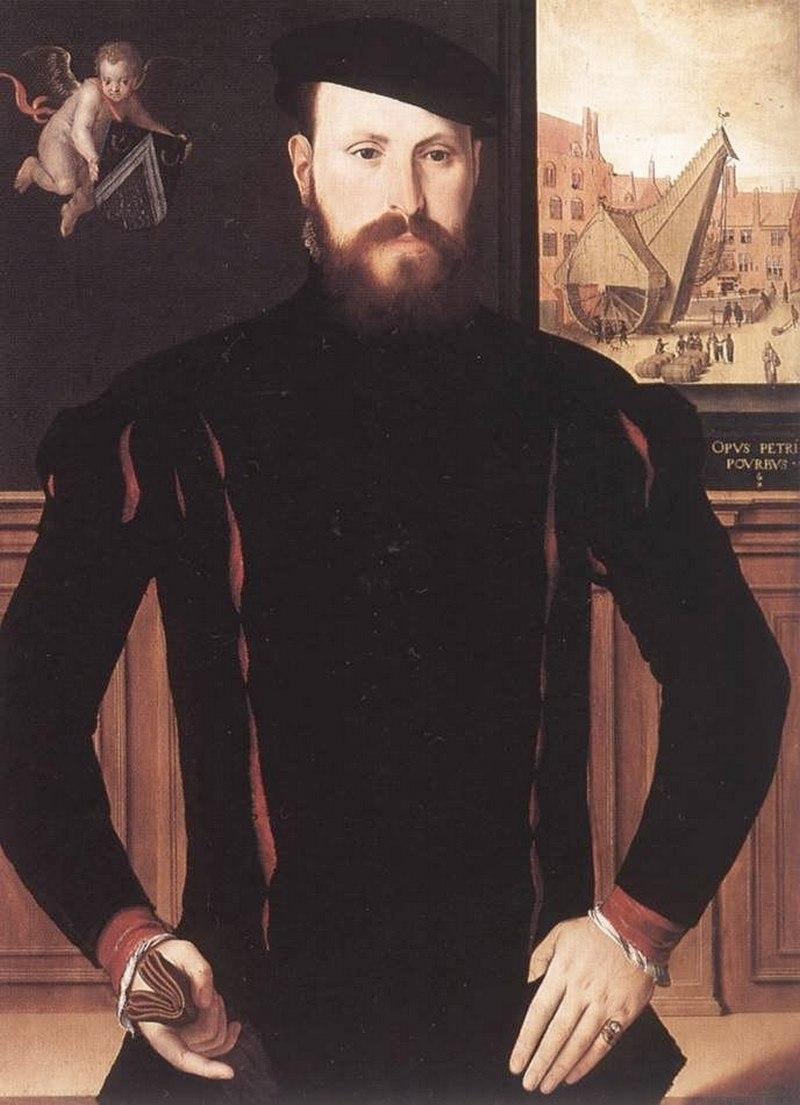 "Питер Порбус. ""Портрет Яна Эуверве"" 1551"